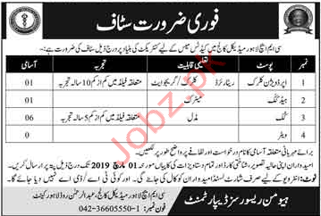 Combined Military Hospital CMH Clrical Jobs 2019 Job Advertisement
