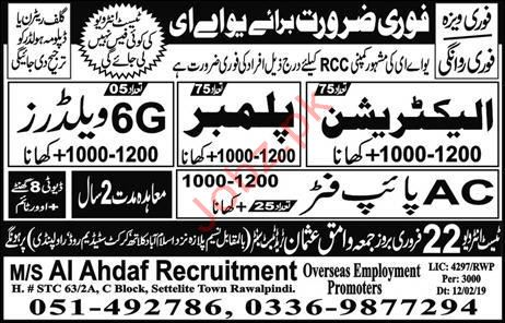 Electrician & AC Pipe Fitted Jobs in UAE