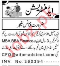 Finance Manager Jobs 2019 in Peshawar