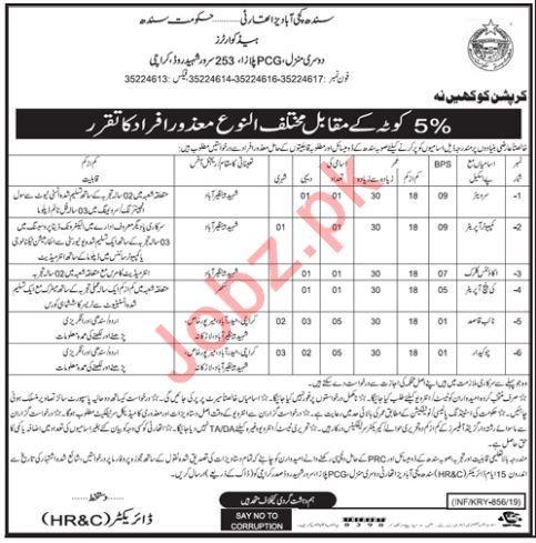 Sindh Katchi Abadis Authority Disabled Persons Jobs 2019