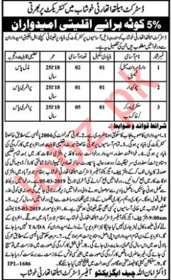 District Health Authority Jobs 2019 in Khushab