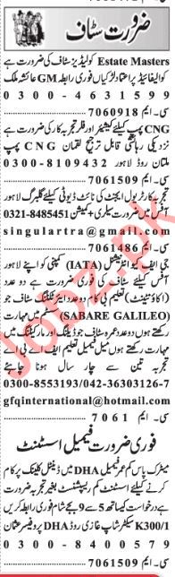 Daily Jang Newspaper Classified Jobs 2019 For Lahore 2019 Job