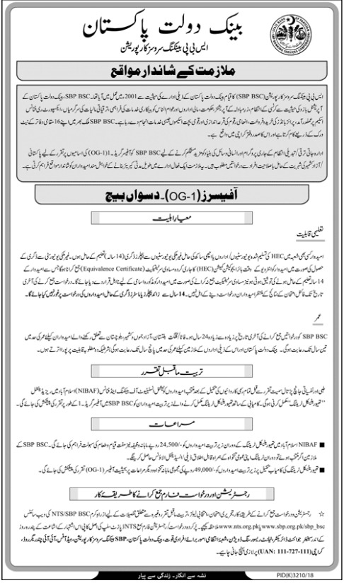State Bank of Pakistan SBP Officer Careers