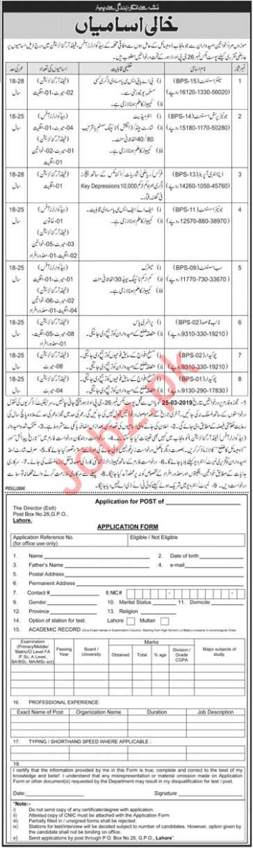 Assistant Jobs at Government Organization