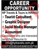 Tourist Consultant Jobs at HP Travel and Tours