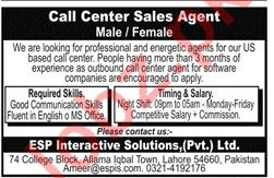 ESP Interactive Solutions Lahore Jobs 2019 for Sales Agents