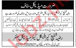 Razia Shafi Critical Care Medical Centre Lahore Jobs 2019
