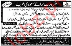 Foreman Carpenter, MEP Technician, Mason & Erector Jobs