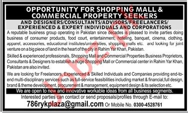 Designer, Consultant, Advisor & Freelancer Jobs 2019