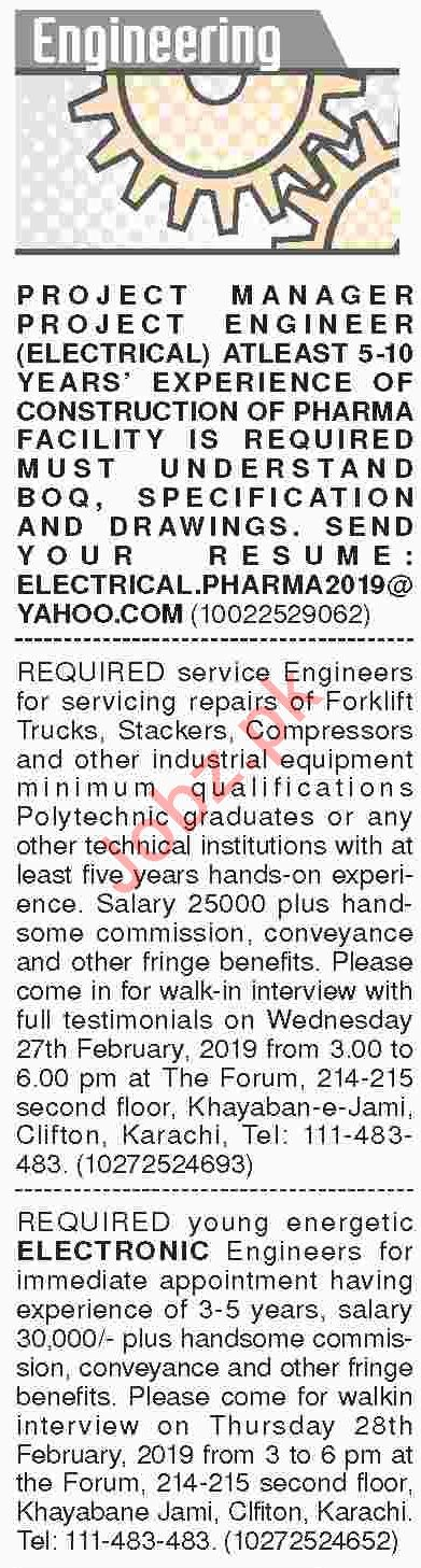 Dawn Sunday Classified Ads 24th Feb 2019 for Engineering