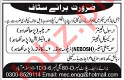 Civil Engineer, Chemical Engineer & Safety Officer Jobs 2019 Job