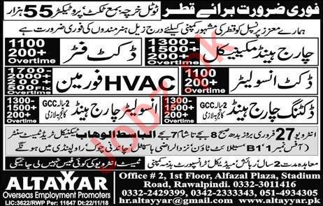 Ducket Fitter & HVAC Foreman Jobs in Qatar & Dubai