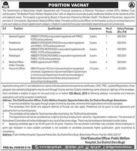 Medical Staff Jobs in Health Department