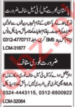 Daily Nawa i Waqt Miscellaneous Staff Jobs 2019 in Multan