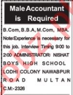 Accountant Jobs 2019 in Multan