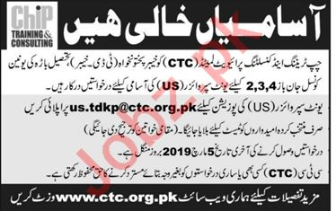 Chip Training & Consulting Unit Supervisor Jobs 2019