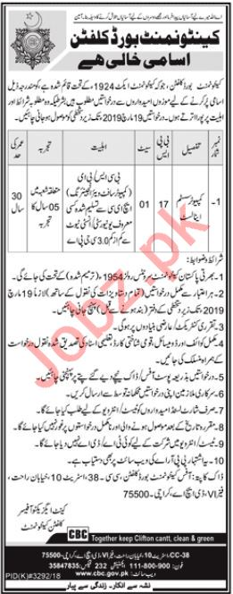 Computer System Data Analyst Jobs in Cantonment Board