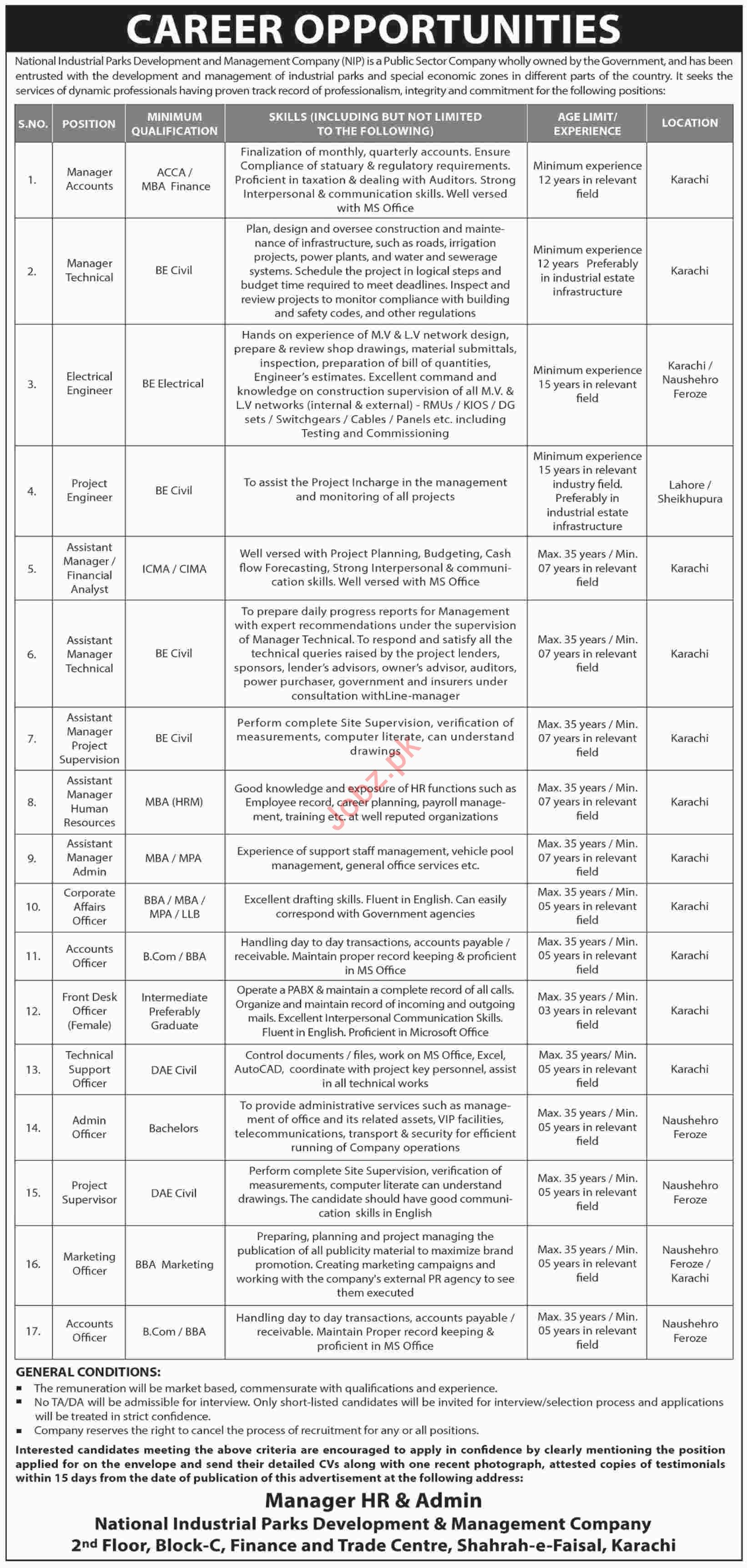 National Industrial Parks Development & Management Jobs 2019