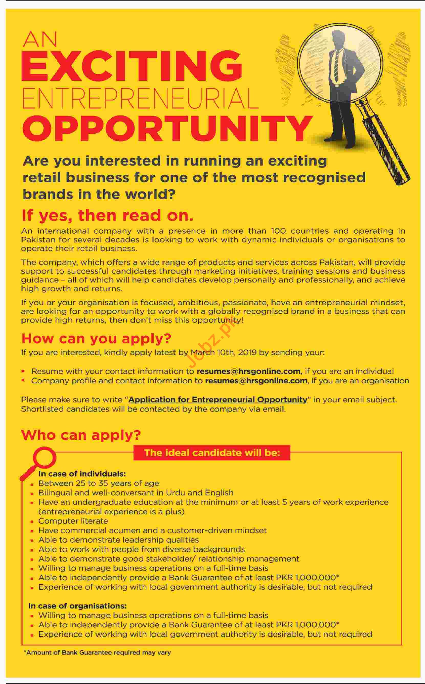 Entrepreneurial Jobs in HRSG Outsourcing Pvt Limited