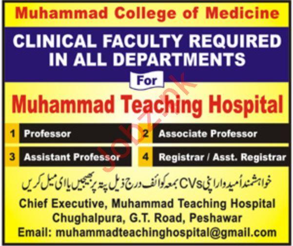 Muhammad College of Medicine Faculty Jobs 2019 Job