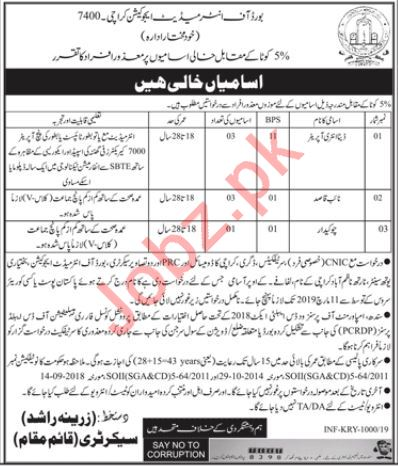 Data Entry Operator Jobs in Board of Intermediate Karachi 2019 Job