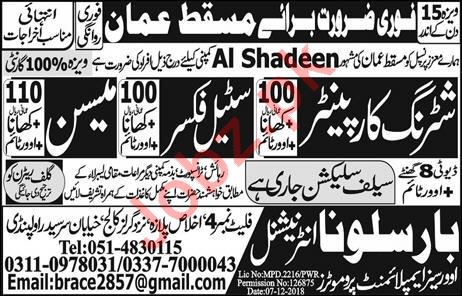 Al Shadeen Group Construction Jobs 2019 in Muscat Oman
