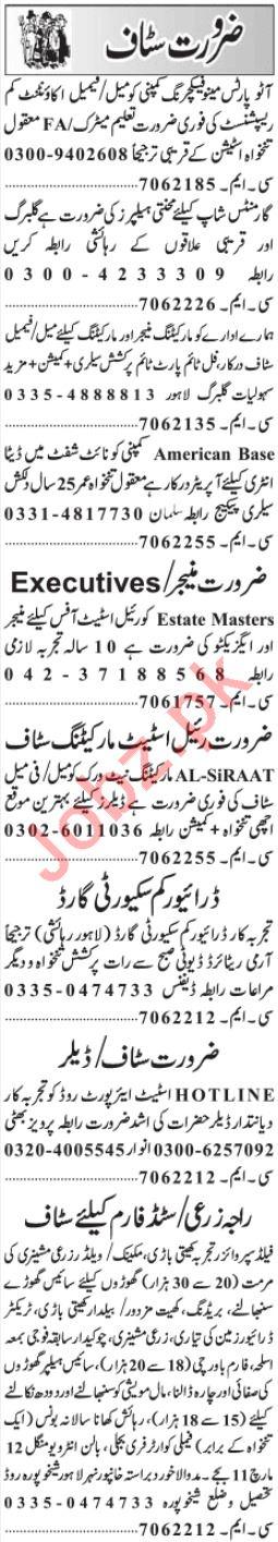 Jang classified ad rates