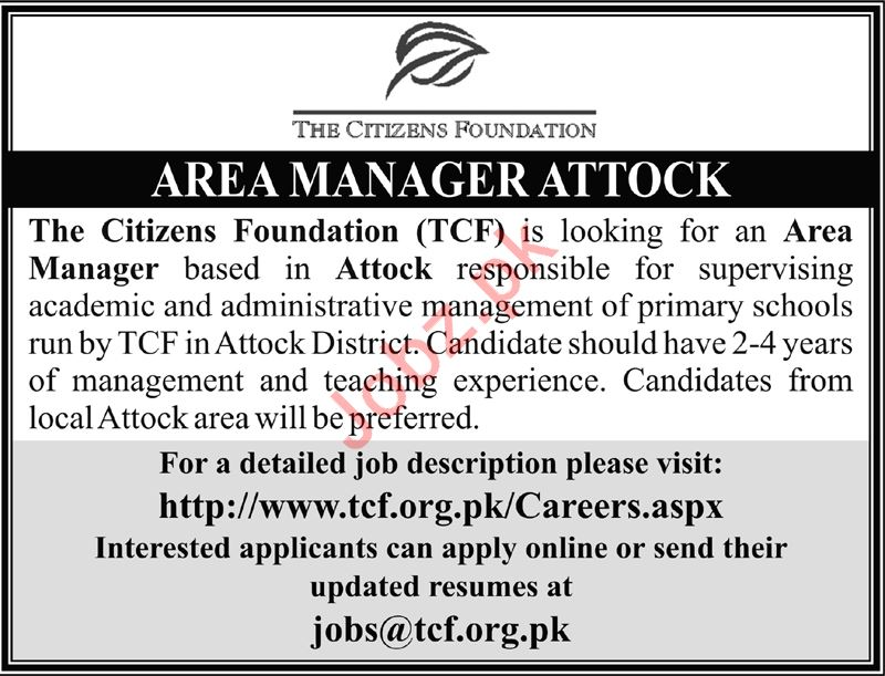 The Citizens Foundation TCF Job 2019 in Attock 2019 Job