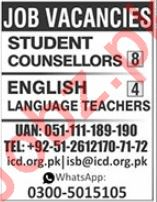 Student Counsellors & English Language Teachers Jobs 2019