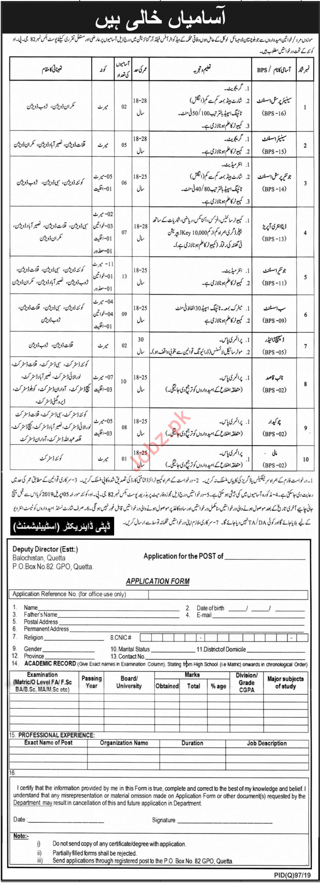 Federal Government Organization Clerical Jobs 2019