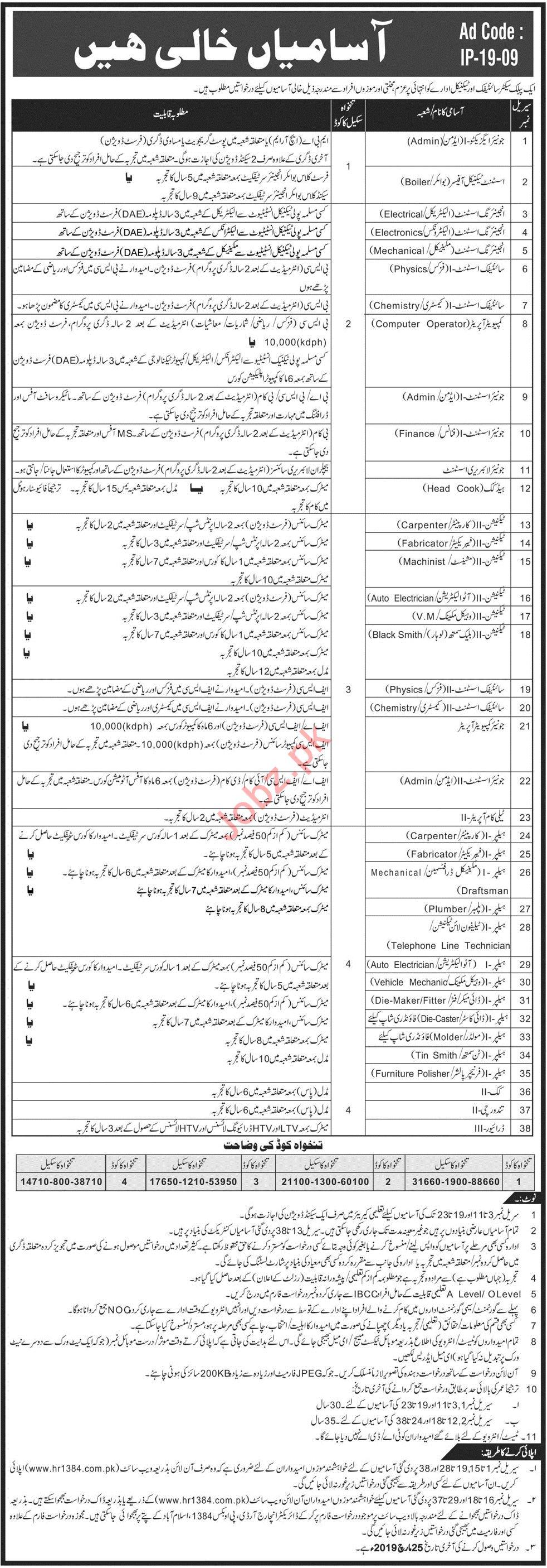 PAEC Pakistan Atomic Energy Commission Jobs 2019