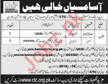 CHIP Training & Consulting Pvt Ltd Jobs in Bannu KPK