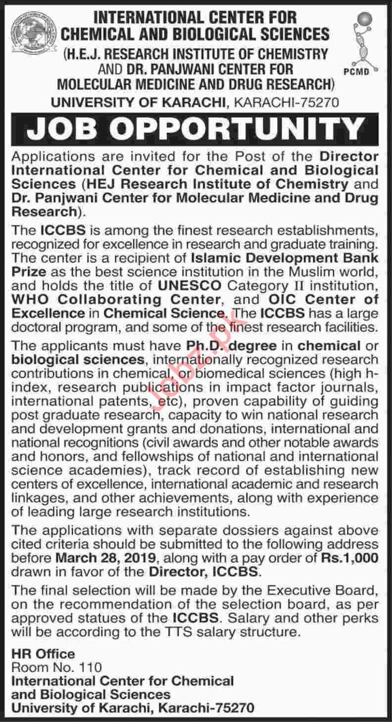 University of Karachi Job 2019 in Karachi