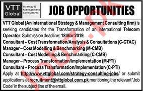 VTT Global  Management Staff Jobs 2019