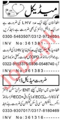 Medical & Paramedical Staff Jobs 2019 in Peshawar