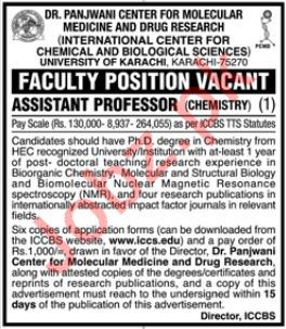 University of Karachi Faculty Jobs 2019 in Karachi