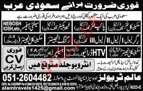 Engineers, Safety Officer, HTV Driver & Helper Jobs 2019