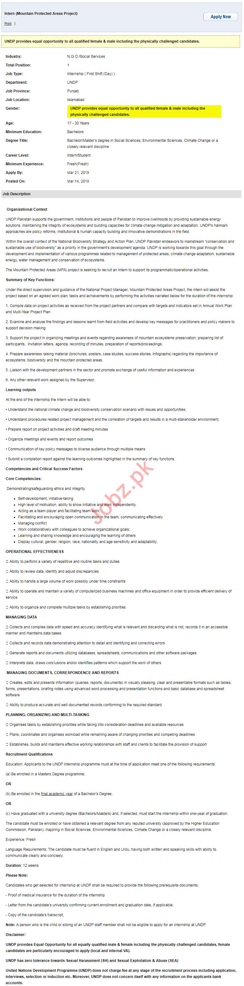 undp united nations development programme ngo job 2019 job