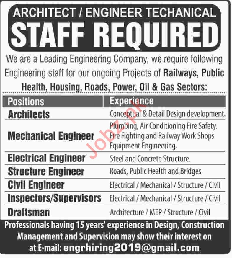 Architects & Engineers Jobs 2019 in Karachi
