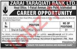 Zarai Taraqiati Bank Ltd ZTBL Jobs 2019 in Islamabad