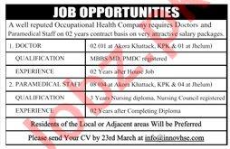 Doctor & Paramedical Staff Jobs 2019 in Rawalpindi
