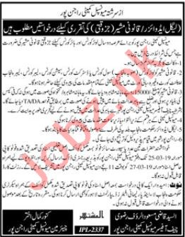 Municipal Committee Legal Advisor job in Rajanpur