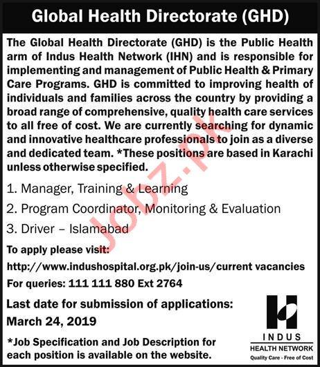Global Health Directorate GHD Management Jobs 2019