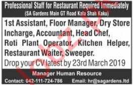 Restaurant Jobs 2019 in Lahore