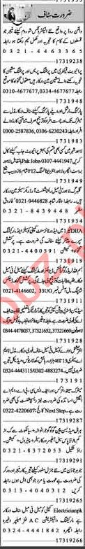 Dunya Sunday Classified Ads 17th March 2019 for Office Staff