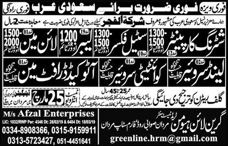 Shuttering Carpenter & Steel Fixer Jobs in Saudi Arabia