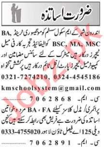 Teaching Jobs 2019 For Schools in Lahore