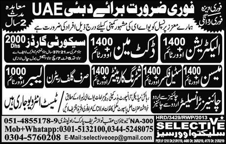 Electrician & Duct Man Jobs in UAE Dubai