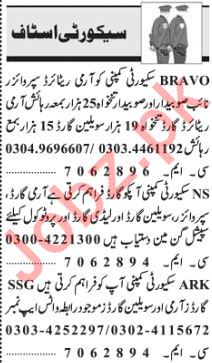 Security Jobs 2019 For Lahore