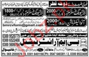 Driving Instructor & Auto Electrician Jobs 2019